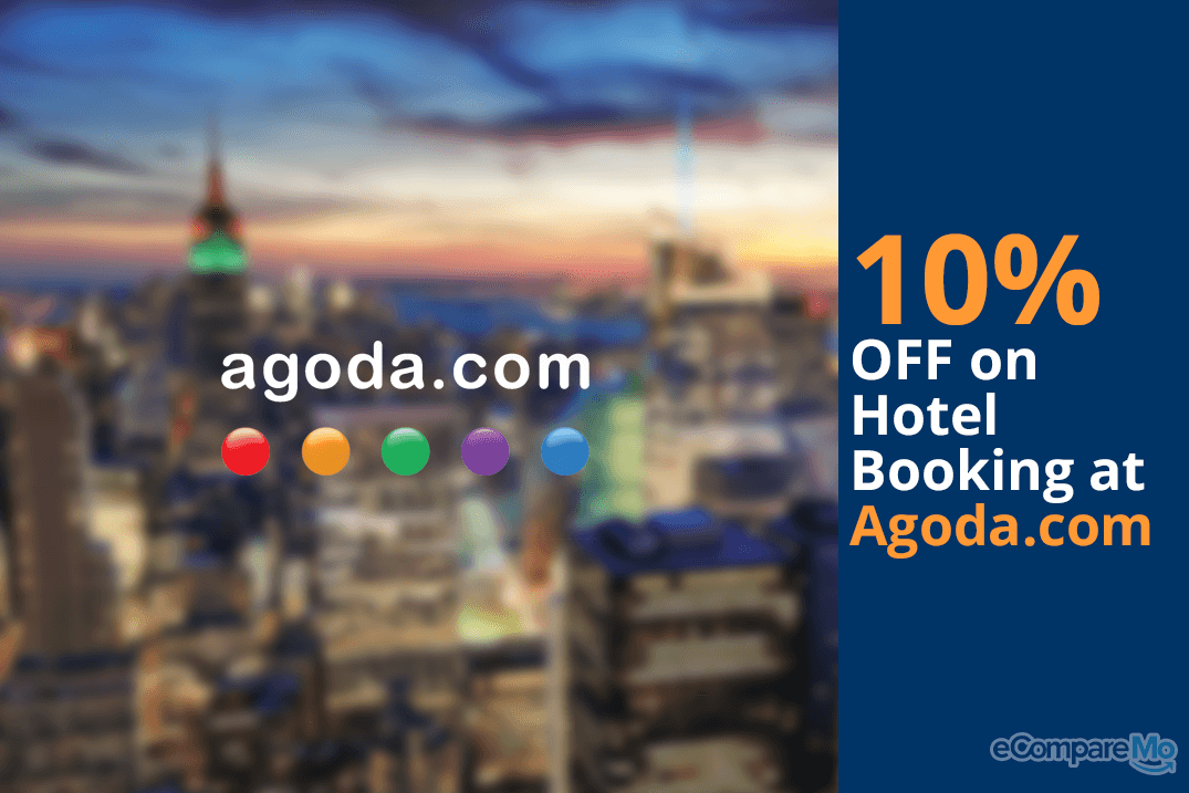 Agoda.com 10% OFF on Hotel Booking.