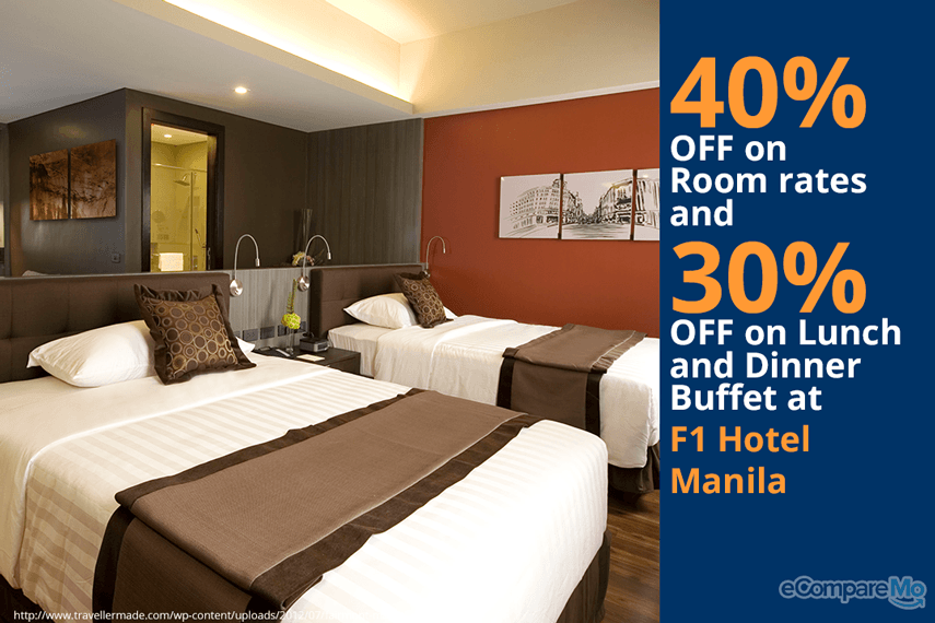 F1 Hotel Manila 40% OFF on Room Rates and 30% OFF on Lunch and Dinner Buffet