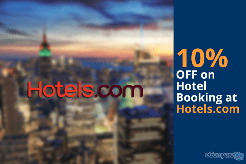 Hotels.com 10% OFF on Hotel Booking.
