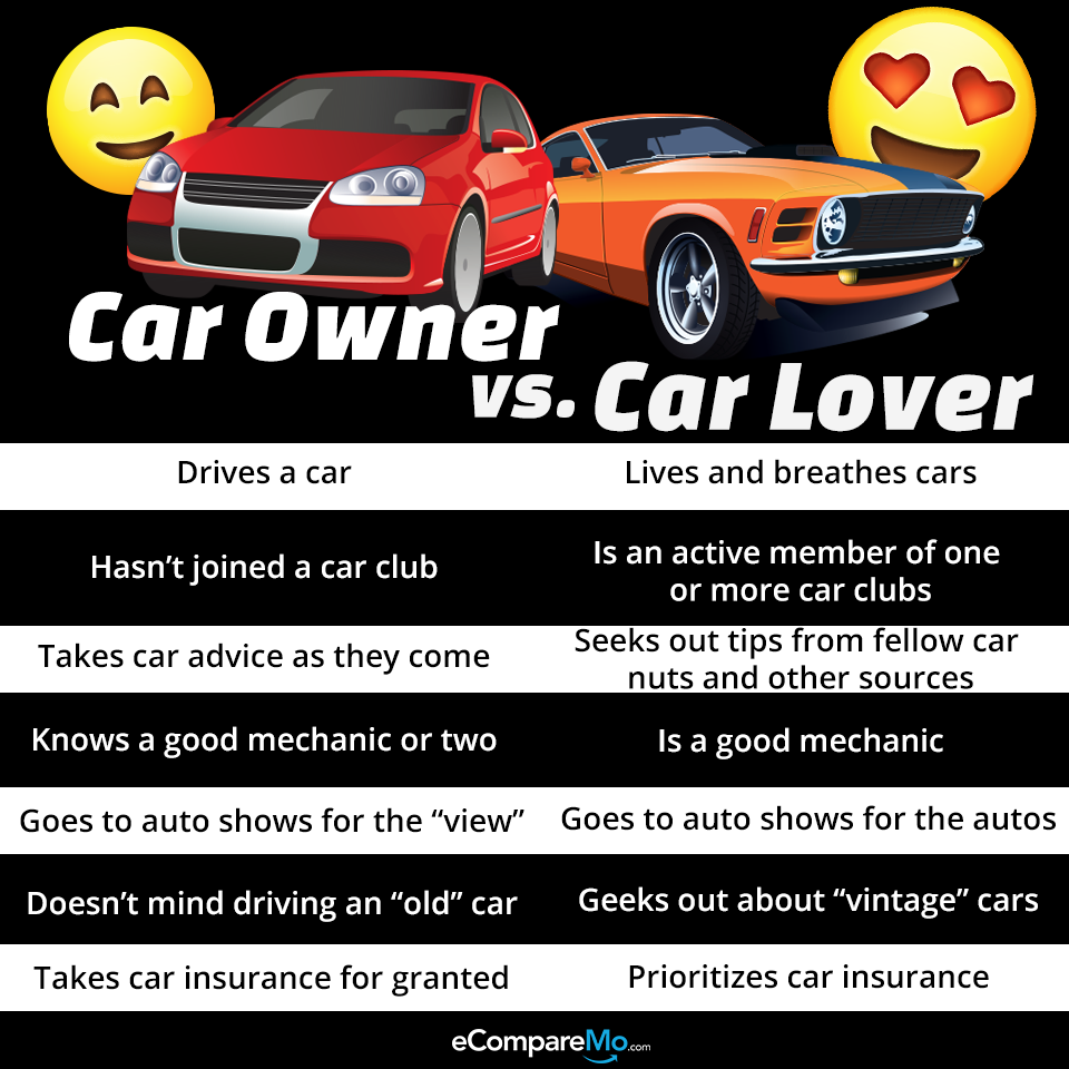 8 Surprising Differences Between A Car Owner And A Car Lover