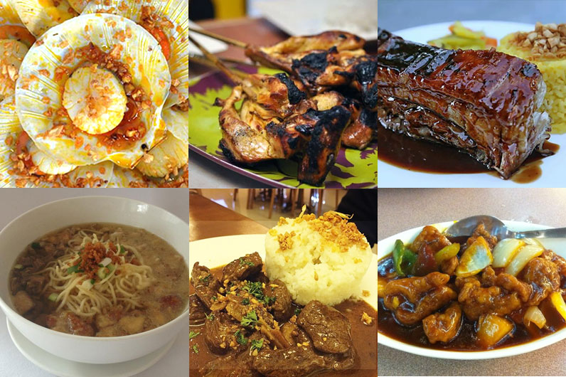 Diotay's - www.facebook.com/DiotaysEatery Chicken Inasal - www.talesfromthetummy.com Lord Byron's - www.facebook.com/byronsbackribsbacolod 21 Restaurant - www.facebook.com/21-Restaurant-174681132582731 Pepe's Restaurant and Bar - www.foodspotting.com L'Sea - www.bacolodfoodhunters.com