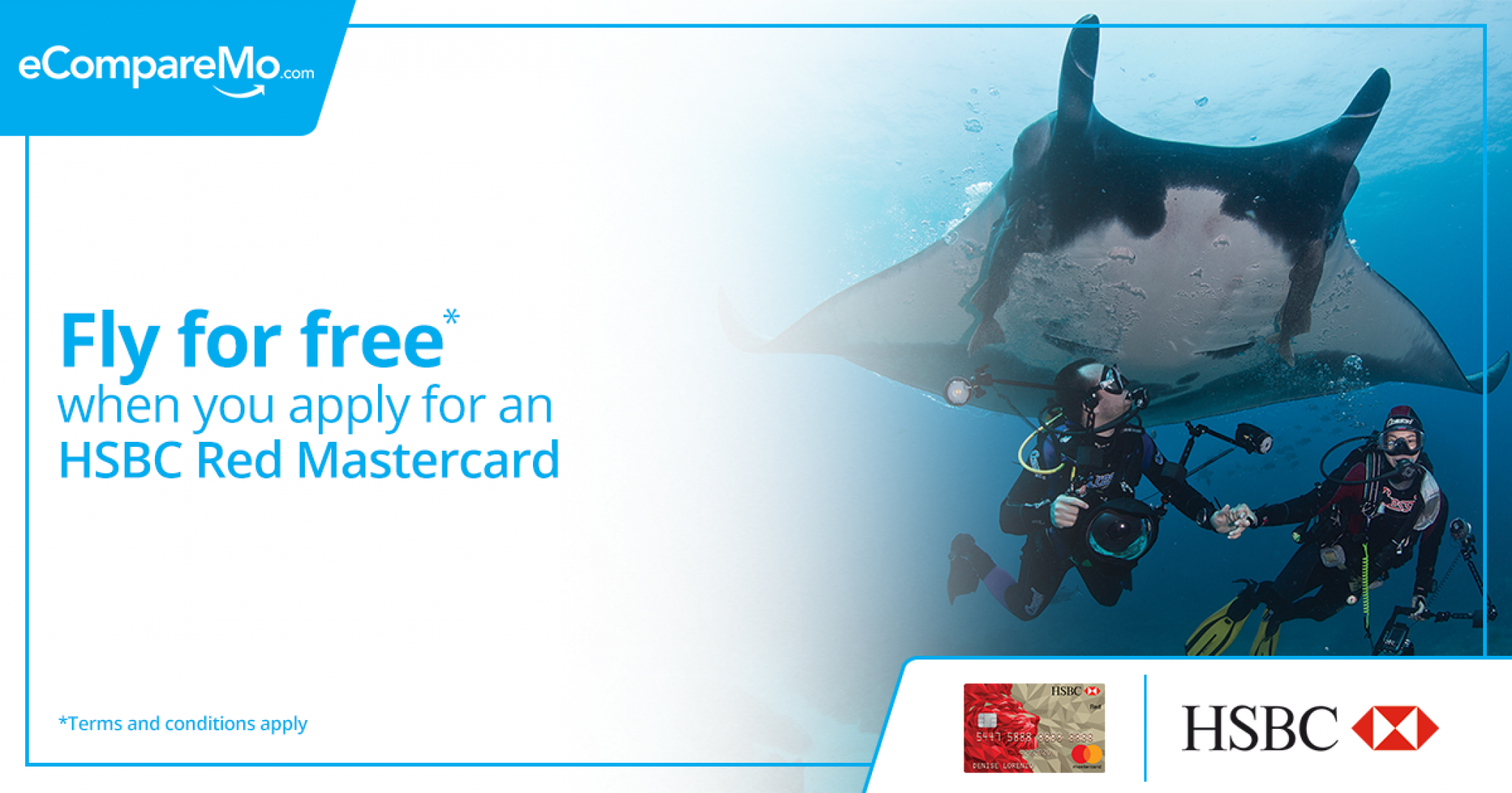 apply for a new hsbc red mastercard and fly to select local